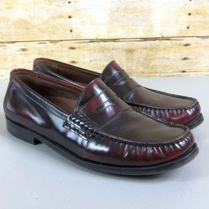 Johnson & Murphy Brown Leather Penny Loafers Sz 11